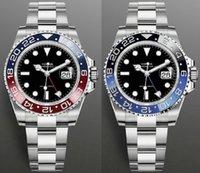 أزياء gmt السيراميك الحافة الساعات الرجال الميكانيكية ss التلقائي 2813 حركة مشاهدة الرياضة الرجال الفضي المصممين المعصم ساعة اليد