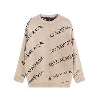 2021 새로운 디자인 스웨터 자수 긴 소매 망 여성 까마귀 러닝 스웨터 슬리브 브랜드 디자이너 풀오버 조깅