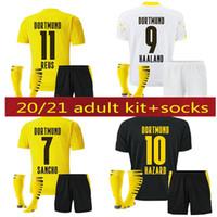 20 21 Borussia Haaland Reus Dortmund Soccer Jerseys 2021 Hummels Brandt كرة القدم قميص الرجال الاطفال الجوارب عدة موحدة