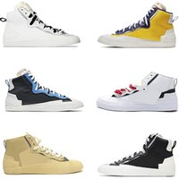 Tasarımcı Marka Yeni Blazer Rahat Koşu Ayakkabıları Orta Erkek Kombine Dunky Yüksek Cut Üniversitesi Mavi Beyaz Kırmızı Siyah Gri Spor Sneakers