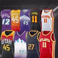 الشباب 11 Trae NCAA Donovan 45 Mitchell Gobert 27 Rudy 12 John Malone Stockton 32 Karl Bogdanovic كرة السلة الفانيلة