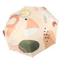 Ins Fully Automatic Sun Umbrella Kids Sunscreen UV Protection Female Rain Folding Compact Portable Designer Umbrellas