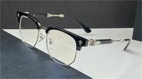 Erkekler Gözlük Tasarım Modelg Optik Gözlük Çokgen Yarım Çerçeve Punk Pop Tarzı En Kaliteli Kutusu ile Reçeteli Lensler Yapabilir