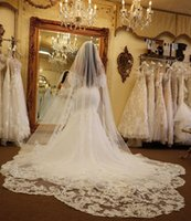 Gorgeous 3M Wedding Veils Lace Applique Edge Long White Ivory Veil One Layer Tulle Custom Made Bridal Accessories With Comb