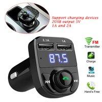 X8 자동차 FM 송신기 AUX 모듈레이터 블루투스 핸즈프리 키트 오디오 MP3 플레이어 3.1A 빠른 충전 듀얼 USB 충전기