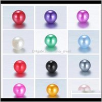 Acrílico, Plástico, Lucite Drop Entrega 2021 Colores de mezcla 8 mm Teal Pearl Spacer Perradas sueltas para los encantos flotantes Collar de joyería Pulsera Haciendo