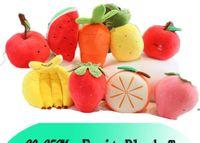جديد رياض الأطفال مدرسة الكرتون الفاكهة أفخم لعبة الفراولة الموز أبل الجزر الأناناس وسادة محاكاة دمية فتاة EWB7968
