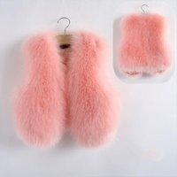 Dziecko jesień zima kamizelka kamizelka dla dzieci futro dziewczyny imitacja płaszcz dzieci faux tkaniny ubrania