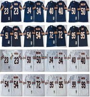 NCAA футбол 23 Девин Хестер Джерси 34 Walter Payton 40 Gale Sayers 50 Mike Singletary 9 Jim Mcmahon 51 Butkus Blue белые мужчины винтаж