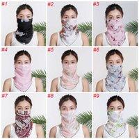 Mode Outdoor Dames Masker Zomer Zonnebrandcrème Winddicht Stof Half Gezichtsjaal Creatieve Gezicht Decoratie Groothandel