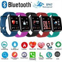 116 بالإضافة إلى شاشة اللون الذكية معصمه في الوقت الحقيقي القلب معدل ضغط الدم النوم ماء معصمه الذكية