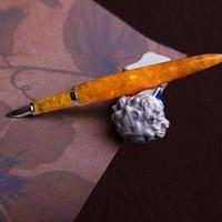 Fuliwen الحب البرتقال الراتنج نافورة القلم الحبر القلم غرامة مجوهرات محول حشو القرطاسية مكتب اللوازم المدرسية PENNA stilografica Y200709