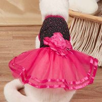 Pet Dog Apparel Cat Dress Skirt Princess Luxury Brand Designer Pink Beige Red Xs S M L Xl Christmas Pets Supply Dogs Bow Tie Collar Polyester Halloween Costume Toy Diy