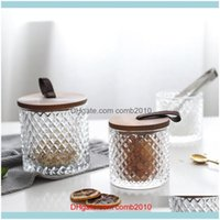 Bottles Jars Housekeeping Organization Home & Gardencrystal Jar With Wooden Lid Nordic Sealed Christmas Candy Glass Container Jewelry Deskto