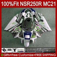 OEM-injectie voor Honda White Glossy MC21 PGM3 NSR250RR NSR250 NSR 250 R 103HC.107 NSR 250R 90 91 92 93 NSR250R 1990 1991 1992 1993 Kuip