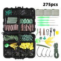 Fishing Accessories 275pcs Portable Kit Carp Tackle Box With Jig Hooks Swivel Beads Stopper Hose