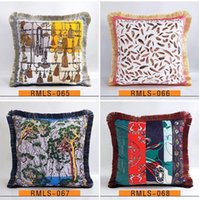 Luxury pillow case designer classic Signage tassel Carriage saddle rope 20 patterns printting pillowcase cushion cover 45*45cm for home deco