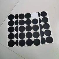 Yuvarlak siyah kauçuk coaster ped 15 oz 20 oz için kendinden yapışkanlı fincan alt çıkartmalar 30 oz Tumblers Koruyucu kaymaz pedler