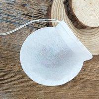 100 Pçs / lote Rodada Sacos de Chá Vazio Bolsa de Filtro de Chá com String Papel Saquinho para Chá Solto Descartável 12 v2