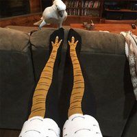 Socks & Hosiery Winter Autumn Women 3D Chicken Print Funny Cartoon Thigh High Sock Fashion Cute Ladies Thin Toe Feet Cosplay