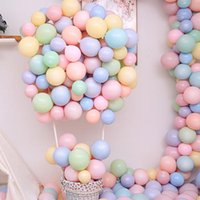 Balões de látex da festa de aniversário 10 polegadas 100 pcs multicolor pastel doces baloons redondo macaron arco decoração fonte feliz aniversário