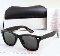 Designer Sonnenbrille für Männer Frauen Square Luxus Sonnenbrille Polarisierte Linsen Mode Sonnenbrille des Lunettes de Soleil mit Ledertuch, Einzelhandelspakete