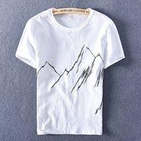 2021 Primavera y verano de manga corta NUEVA T-shirt T-shirt de la marca Bordado de la marca T Shirt para hombres Cuello redondo Tshirt TSHIRT MENS 414F