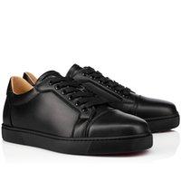 Com caixa de fundo vermelho sneaker vieira mulher / homens couro liso baixo tops sapatos sapatilhas preto branco skate sneakers fábrica atacado baixo preço