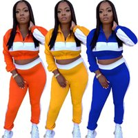 Jogger suits Women tracksuits Fall winter Clothes long sleeve outfits pullover hoodie+sweatpants two Piece Set Plus size 2XL fitness patchwork sweatsuits 5902