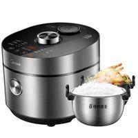 Reiskocher MIDEA Mini Elektrischer Druckkocher 3L Doppelbiliary Automatischer Niedriger Zucker- und Fettsteuerung