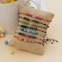 Beaded, Strands Handmade Tiny String Beaded Bracelet Small Natural Stone Bracelets For Women Vintage Jewelry Simple Miyuki Strand Braclets