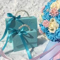 Youranwish 20pcs / lot portable fête de mariage Favoris Boîtes de bonbons Baby Douche Sac cadeau DIY Creative Candy Box romantique Mariage