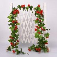 Fleur artificielle vigne Faux Silk Rose Ivy Fleurs pour Vines Décoration de mariage Hanging Garland Home Decor