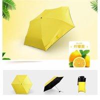 Moda Taşınabilir erkek Şemsiye Mini Kapsül Cep UV Koruma Yağmur Katlanır Kadınlar Kompakt Küçük Kapsül Umbrel Qylemp