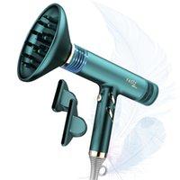 Fasiz 1600W Portátil Lightweight Hair Secador de cabelo sem escova de secagem rápida íon negativo, Blowdryer 9 ajustes de engrenagens Infinity velocidade difusor e bocal de concentrador