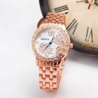 Mens Watches Luxury Watch Steel belt Geneva point drill water beautiful butterfly fashion women's decorative