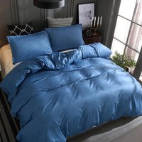 Bedding Sets Nordic Style Solid Color Stone Simple Plain Quilt Cover Pillowcase Marble 3 Pieces