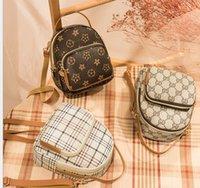 Kinder Schule Mittagessen Back Packs Taschen für Mädchen Rucksäcke Nette Kinder Frauen Geldbörse Freizeit Gitter Rucksack Tragbare Umhängetasche Mädchen Handtasche