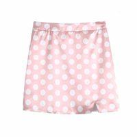 Skirts Sweet Woman Pink Dot Halter Satin Short Blouse 2021 Summer Fashion Ladies Beach Cropped Top Female Chic Sleeve Tops GRTZ
