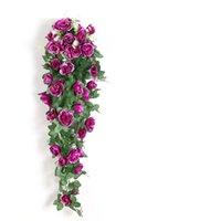 الاصطناعي زهرة الروطان وهمية الزهور كرمة الديكور الجدار شنقا الورود ديكور المنزل اكسسوارات الزفاف الزخرفية الزخرفية إكليل GWE8217