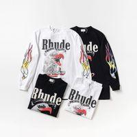 2020 Rhode Designer Длинный рукав и женский свитер Европа и Америки Tide Brand совместно определяют La Los Angeles Fire Eagles Terry Round