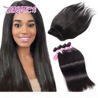 Монгольские пачки волос прямые волосы плетение 4 связки человеческие волосы натуральные черные необработанные красоты из лики