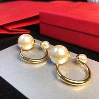 2021 Lussurys Designer Orecchini per perle Orecchini in oro 18K placcatura in oro per lady women party wedding lovers regalo di fidanzamento