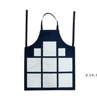 Sublimação 9 xadrez aventais Sublimação Em branco Avental de cozinha Impressão Óleo à prova de óleo de algodão antifouling aventais EWB5154