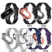 Neue Silikonband Metallrahmenkoffer für Xiaomi Mi Band 3/4 Mode Design Armband Miband 4 Gurt