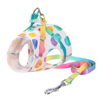 Dog Collars & Leashes Summer Breathable Mesh Cat Vest Harness With Leash Pet Kit For Small Dogs Cats 3D Fabric Cloth