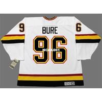 Real 001 Реальная полная вышивка # 96 Pavel Bure Vancouver Canucks 1996 CCM Vintage Hockey Jersey или пользовательское имя или номер хоккея