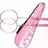 Montrer la raquette de Badminton colorée F002 Rose Blue Ferroalloy Split étudiant
