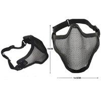 Boutique Tactical Caccia Caccia mentale Mezza Maschera Ambientazione esterna Bicycle Guida All'aperto Campo esterno CS Mesh Airsoft Mask Paintball resistente GWE7250