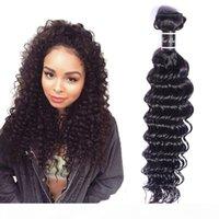 Extensões do cabelo virgem brasileira 8-30inch profunda onda um pacote profundo cor natural cor de cabelo humano produtos duplos
